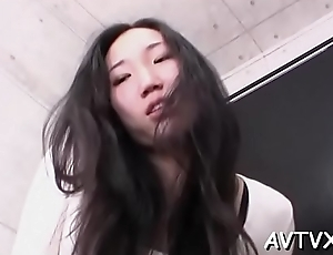 Cute asian pamper mesmerizes with naughty 10-pounder sucking