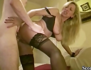 German MILF Mention Big Dick Virgin Son of Friend how to Fuck