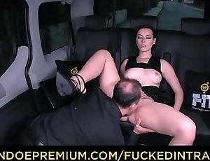 FUCKED IN TRAFFIC - Gorgeous babe slammed in the overconfidence