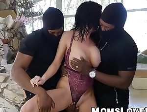 Busty housewife brutally fucked by two BBCs in a threesome