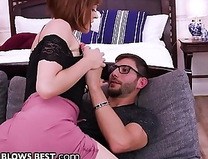 Cheating Cougar Krissy Lynn Blows Stepson to Shut Him Up!