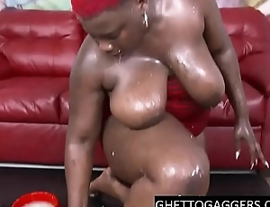 Black BBW throated hard &amp_ degraded
