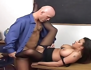 He fuck his teacher - and see her Big Boobs along to principal time