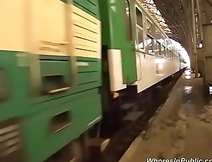 crazy real groupsex orgy prevalent a public train