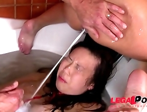 Submissive bitch Tigerr Benson Roughed up &amp_ Humiliated in Bath Tub GP013