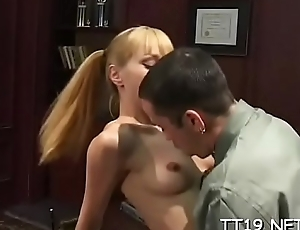 Horny teacher gets sucked and plunges jock hither studnt'_s pussy