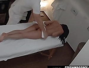 Brunette Sexy Tot Secretly Fucks on Massage Table