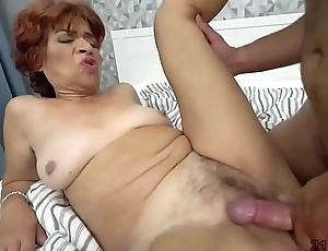 Latina granny eaten out by a hunk