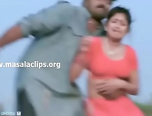 Kannada Be conducive to Boobs and Navel Molested Video