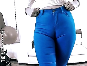 EPIC Abysm CAMELTOE In TIGHT BLUE JEANS and With a BIGASS Crack