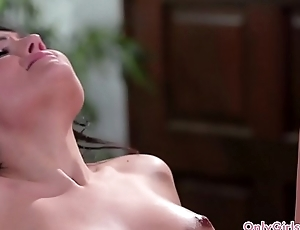 Teen masseuse eating broadly lesbian client