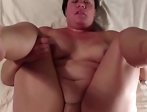 Chubby woman nearly a huge pair of tits does POV blowjob and gets pussy fucked on the tastiest way ever