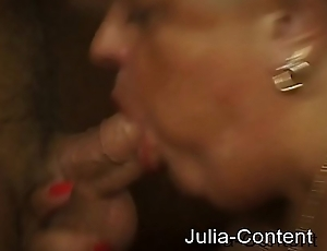 Chubby horny woman is fisted