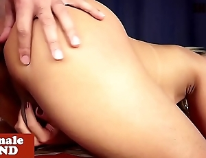 Bigbooty ladyboy rimmed and doggystyled
