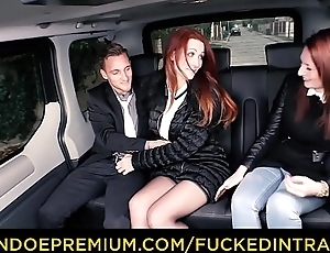FUCKED IN TRAFFIC - Low-spirited Euro redhead Isabella Lui fucks in the car after ditching her friend
