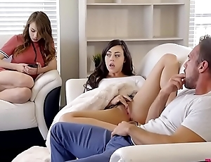 Alex Blake and Whitney Wright take turns fucking dad to the fullest extent a finally trying not to get caught!
