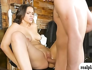 Gorgeous woman pounded for some capital