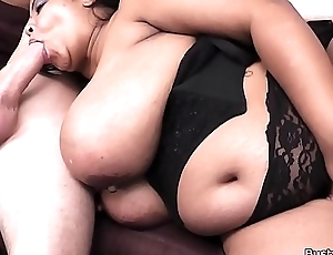 Huge boobs plumper rides his white weasel words