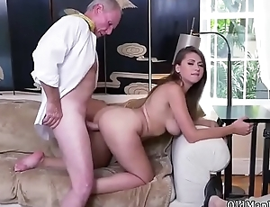When daddy is overseas Ivy impresses with her big mounds and ass