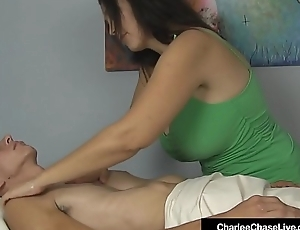 Busty Milf Charlee Chase Double Strokes A Client'_s Hard Cock