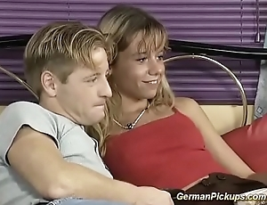 marketable young german couple picked up from street