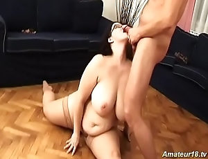 extreme fat babe milf gets fucked in flexi positions