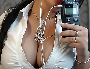 ASMR Erotic Sucking finger sexy angel stripper
