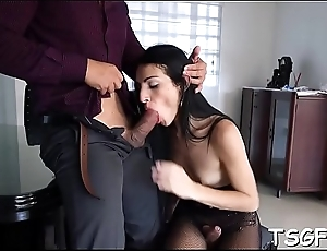 Hot lad penetrates shemale'_s big ass deep with his cock
