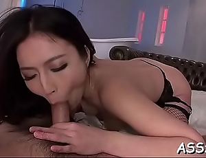 Wild japanese chick delights her snatch and anal with sex toys