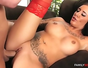 Step daughter plays cowgirl mainly daddy'_s cock
