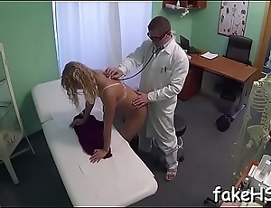 Hot doctor reaches one stunning agonorgasmos after another