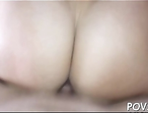 Hot and filthy chick is addicted to vehement fucking