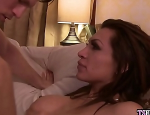 Sore latina shemale got anal pulverized after a quarrel