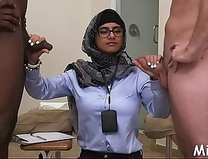 Two outcast arab babes take a lesson about vehement cock-sucking