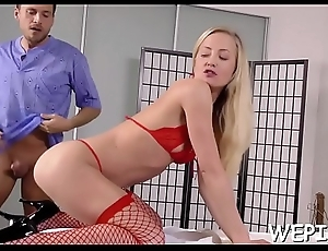 Frisky chick is pissing around previous to her paramour fucks her
