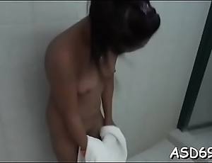 Professional chick makes the horny boy starve for her cunt