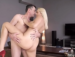 Daddy loves fucking me increased by old mom sex Sleepy fellow unhooked how his