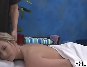 Sexy fucked hard and facialed during a massage episode