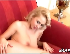 Gorgeous lesbian babes in scenes of romantic softcore
