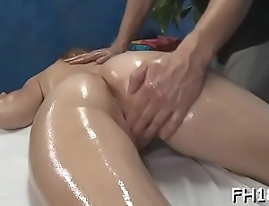 Hot with an increment of horny 18 year old slut gets a hard fuck from her masseur