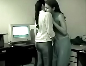 Two young Indian Lesbians have fun all over the rendezvous