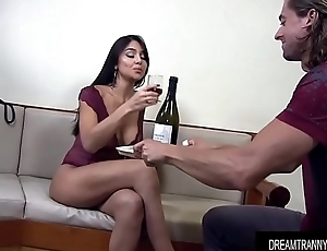 Gorgeous Tranny Jessy Lemos Is Fucked Deep in Her Pouting Asshole