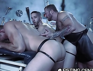 Daddy Doctor Fists His Hunk Monster &amp_ Disobedient Assistant