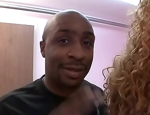 Black stud fucks a thick ebony whore indoors then cums on say no to