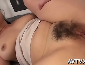 Stud is receving an arousing oral-sex from cute oriental