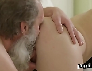 Sweet schoolgirl is teased and plowed by older teacher