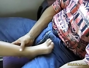 horny german couple screwing at the train
