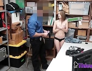Kimmy Granger takes investigators cock in doggystyle as she moans