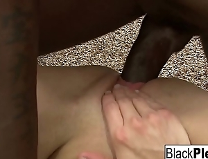 Blonde babe gets analized by a sulky cock