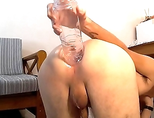 Anal bottle with an increment of fisting